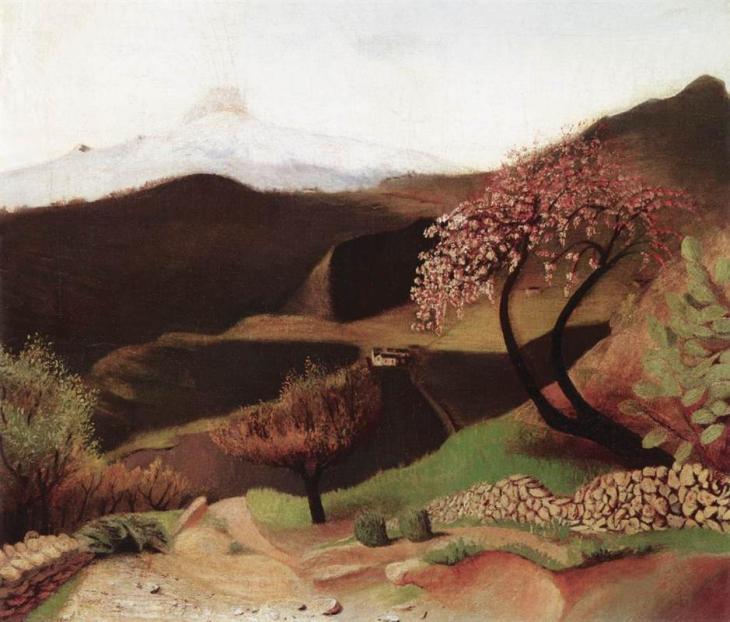 ανθισμένη αμυγδαλιά (Τοπίο στην Ιταλία) Tivadar Kosztka Csontvary 1902