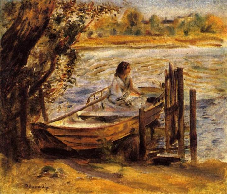 Νεαρή γυναίκα σε μια βάρκα (Lise Trehot) 1870