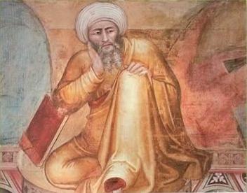 Ο Αβερρόης σε πίνακα του Andrea Bonaiuto, 14ος αιώνας)