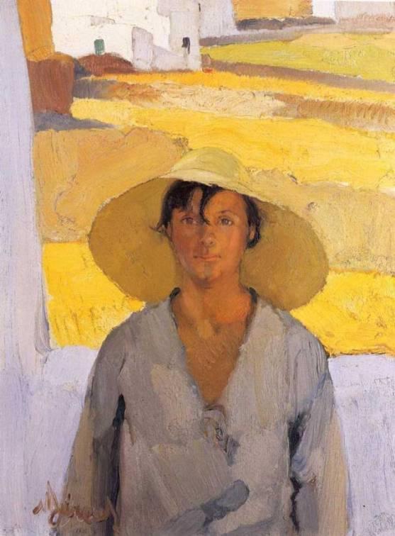 Νικόλαος Λύτρας, Ψάθινο καπέλο, περ. 1923-26