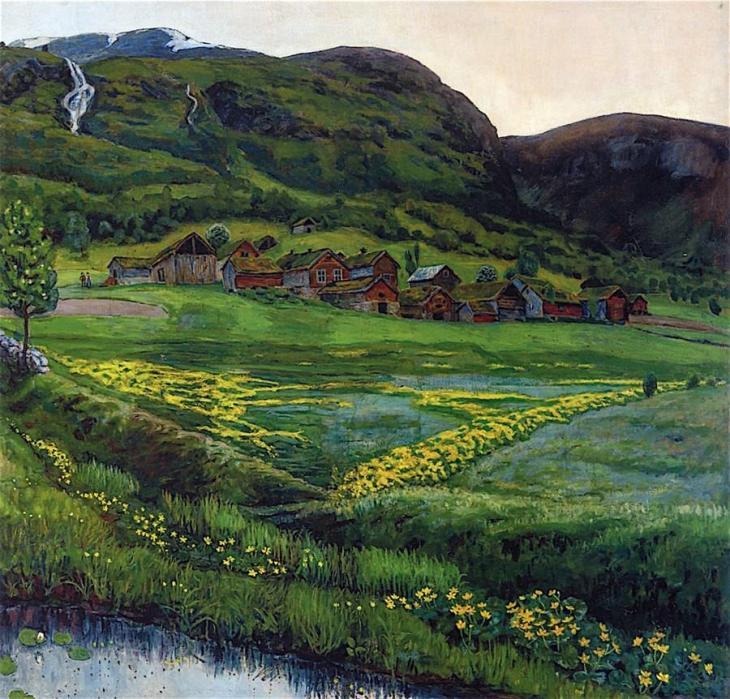 Μια καθαρή βραδιά του Ιούνη Nicolai Astrup - 1905-1907
