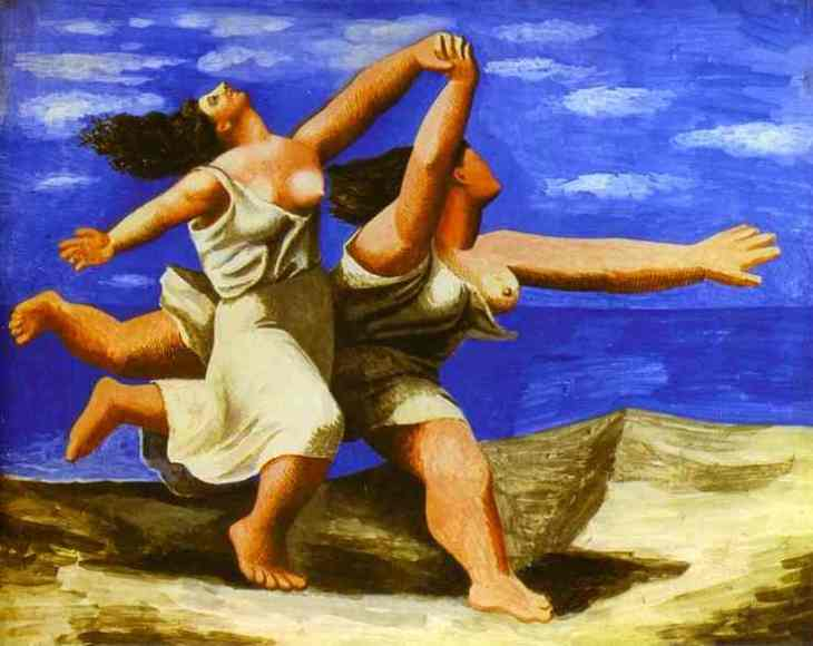 """Two women running on the beach, the race"" Pablo Picasso"