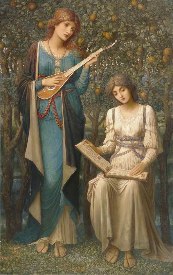 Όταν τα μήλα ήταν χρυσά, τα τραγούδια γλυκά, αλλά το καλοκαίρι είχε περάσει - John Melhuish Strudwick - 1906