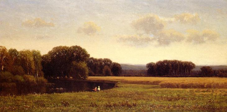 Ψάρεμα στο τέλος του καλοκαιριού - James Renwick Brevoort - 1868