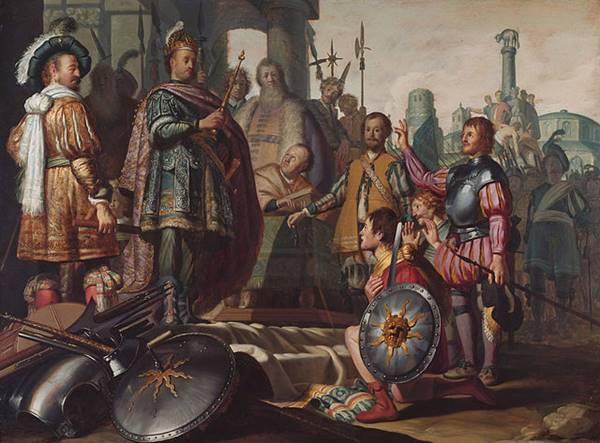 Ο Παλαμήδης μπροστά στον Αγαμέμνονα. Πίνακας του Ρέμπραντ, 1626