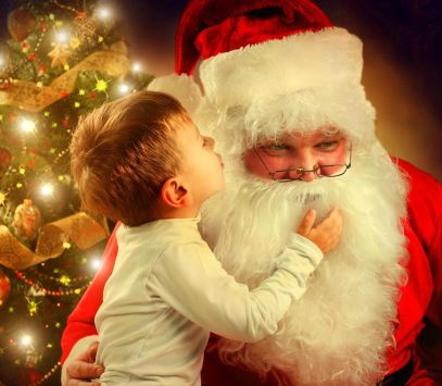 young-boy-whispering-to-santa-claus