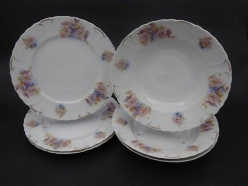 Набор тарелок Кузнецов Вербилки до 1917 года
