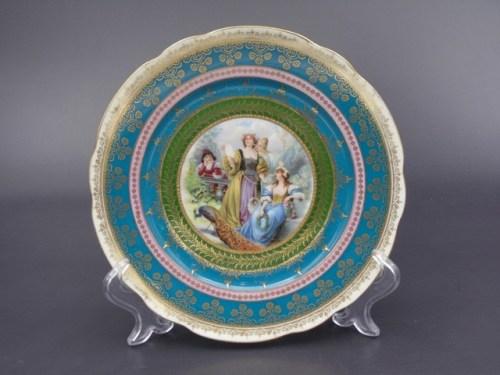 Интерьерная тарелка Кузнецов Дулево до 1917 года