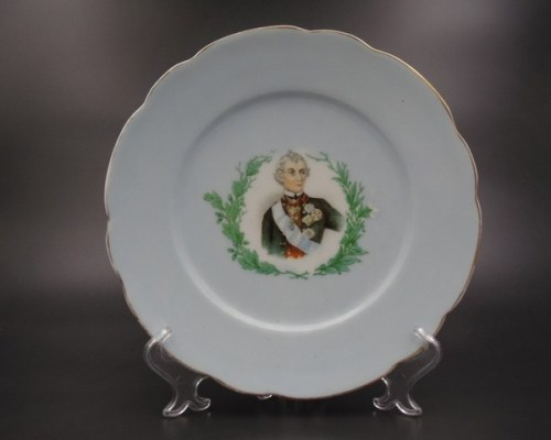 Интерьерная тарелка Кузнецов Рига до 1917 года