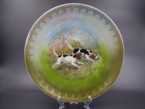 Интерьерная тарелка Гарднер фарфор до 1917 года