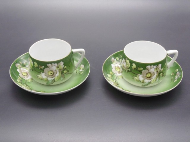 Чайная пара с маркой Кузнецова в Волхове 1890-1913 гг
