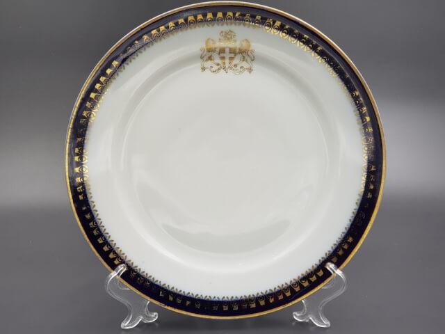 Тарелка с маркой фабрики Кузнецова до 1917 г