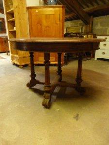 Antiker runder Auszugs-Tisch um 1880, Gründerzeit