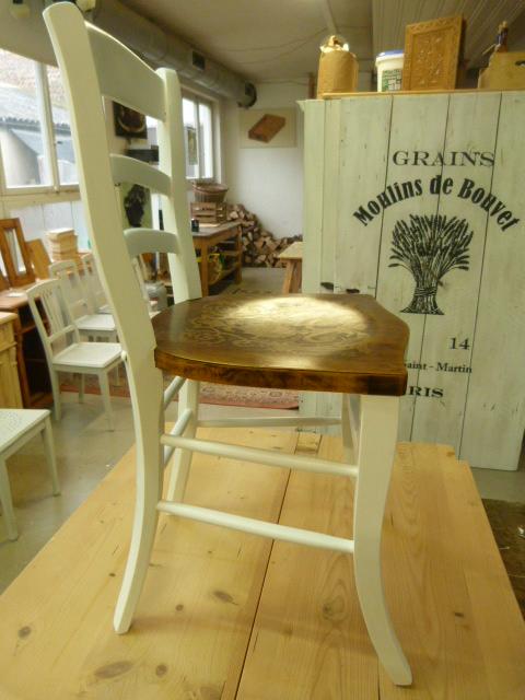 Kaffeehaus-Stuhl in weiß