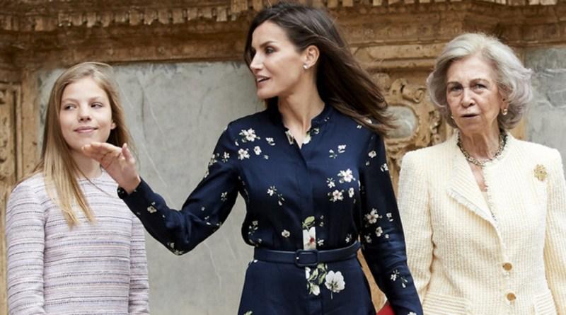 الملكة ليتيزيا تختار فستانًا من علامة أزياء بسعر معقول في عيد الفصح