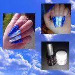 IshtarNails Acrygel Pink vsp infinity blue et matisse Painting blanc 1