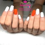 IshtarNails Shelly Gel Classic Snow White and Sweety Gel Coral Fluo 2