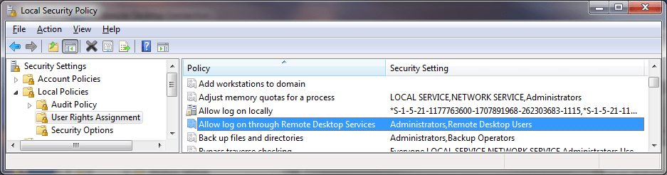 Protección contra ataques de RDP