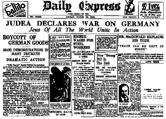 Judea Declares War Against Germany