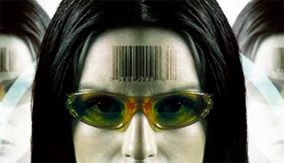 Lazer ID code on a forehead