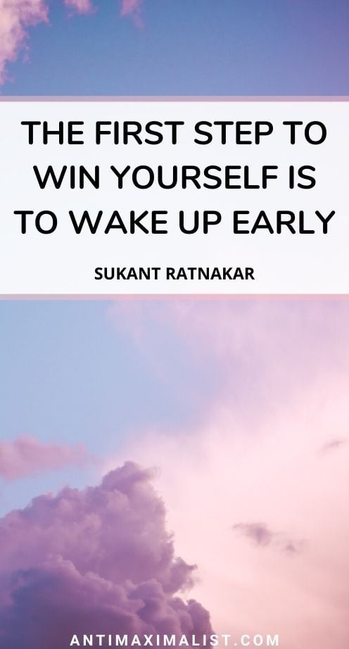 Get Up Quote : quote, Early, Quotes:, Winning, Starts, Morning!, Antimaximalist