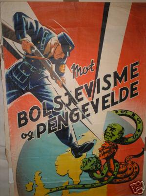 Пропагандистский плакат датских нацистов