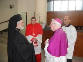 Митр. Иоанн (Зизиулас), кардинал Кох и еп. Андреа Пальмиери (крайний справа)