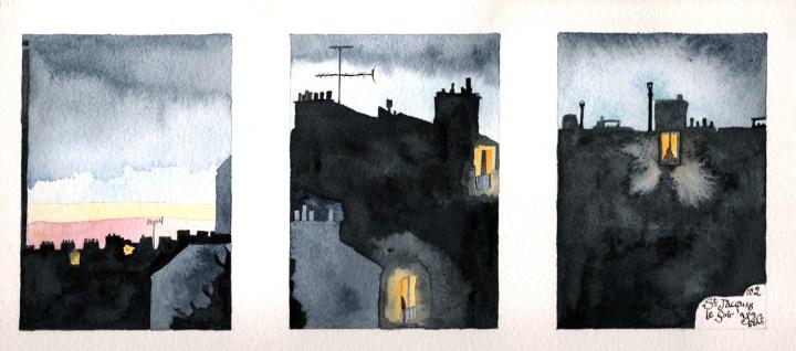 3. Saint Jacques - evening no. 2 - Triptych