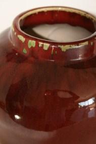 Pot en grès émaillé rouge - Chine