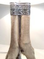 Lampe pattes de gazelle, métal argenté, Anglais 20ème