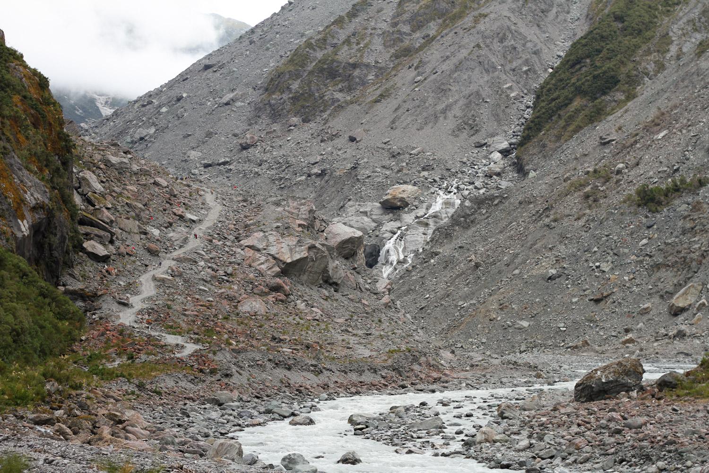 Chemin d'accès au Fox Glacier