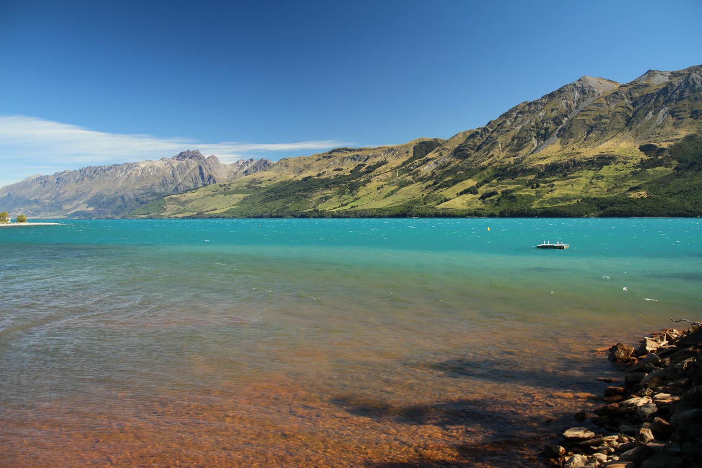 Le lac Wakatipu à Glenorchy