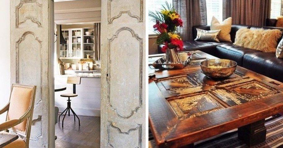 16 идей, как можно вписать старую дверь в интерьер