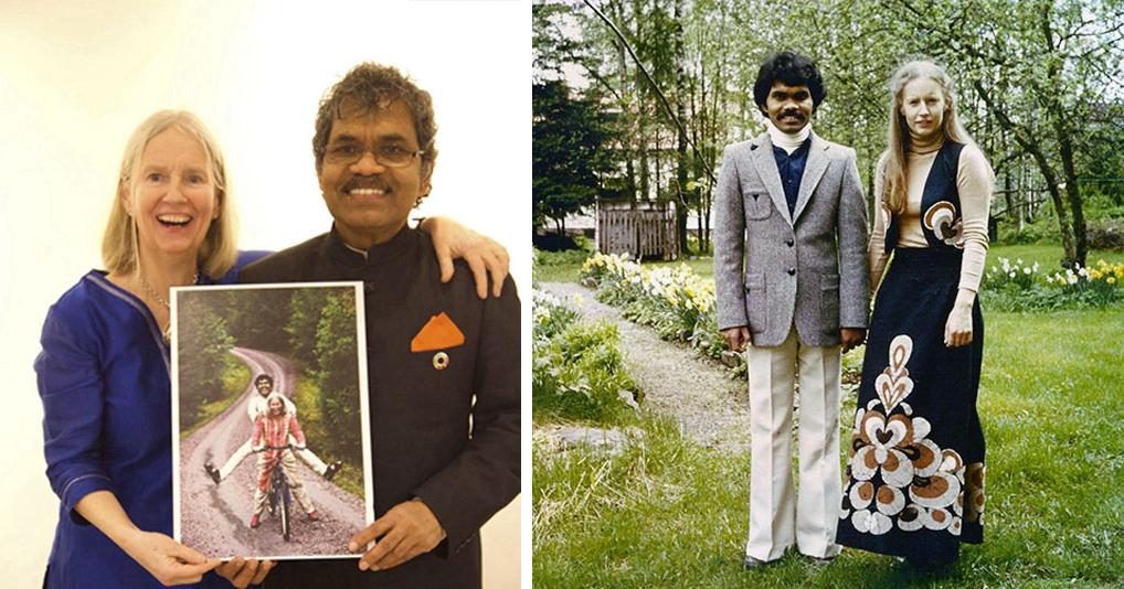 40 лет назад, мужчина приехал на велосипеде из Индии в Швецию, чтобы жениться на любимой женщине