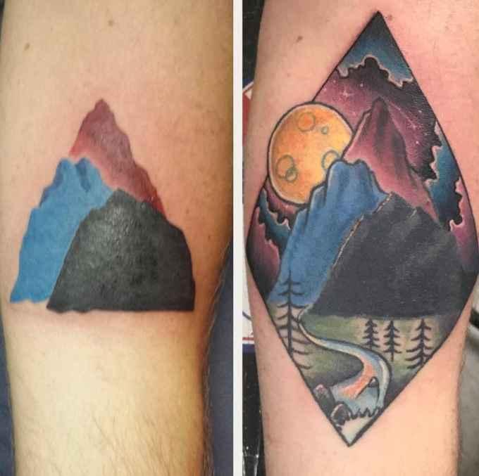 20 примеров того, что любую позорную татуировку еще можно спасти