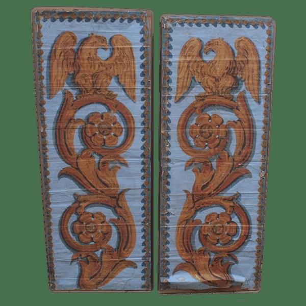 Carta da parati antica decorata con aquile
