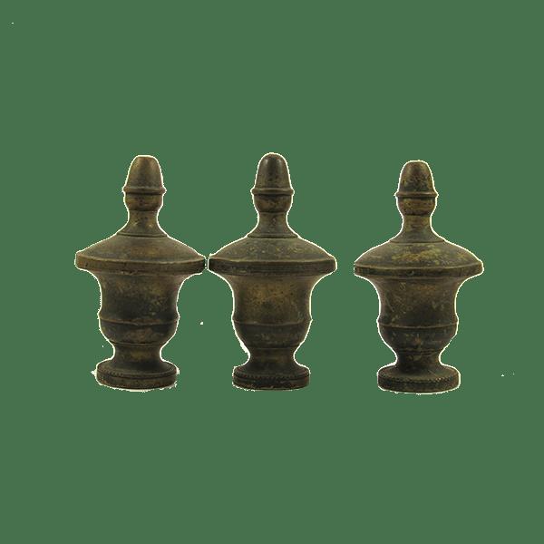 Pomelli in ottone da letto XVIII secolo