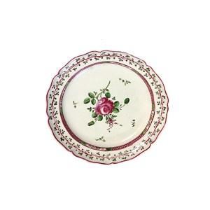 piattino XVIII secolo, la Rosa di Pesaro
