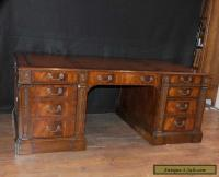 Victorian Mahogany Desk Writing Table Antique Furniture ...