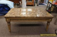 Vintage French Louis XV Style Marble Top Coffee Table ...