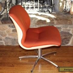 Steelcase Vintage Chair Giant Bean Bag Chairs Dark Orange Steel Case Desk Office Mid Century Modern For Sale