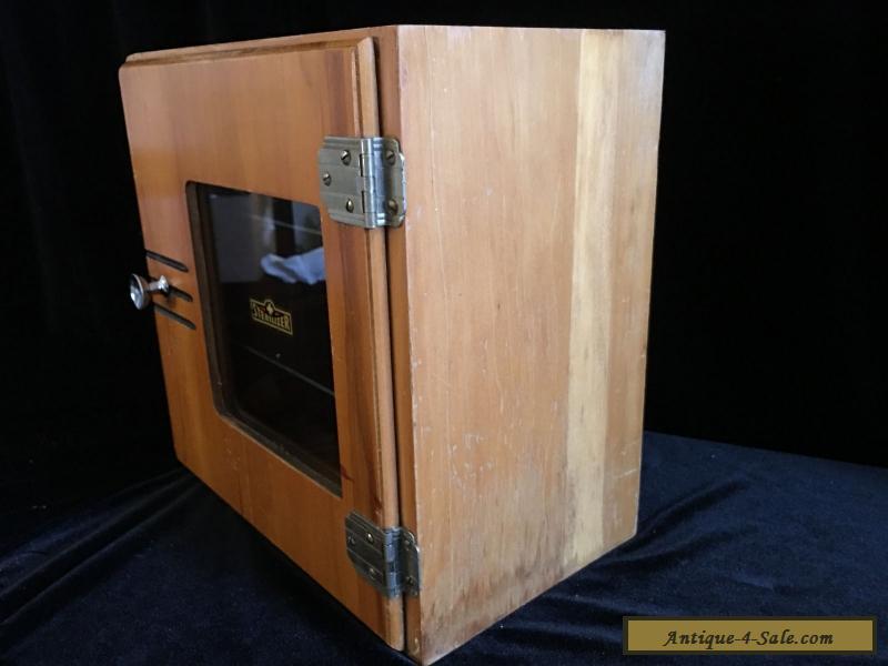 Vintage Sterilizer Barber  Medical Wooden Cabinet  Wood