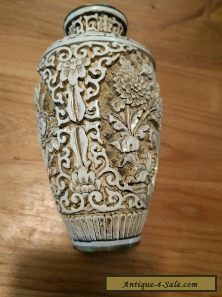 Chinese carved vase Ivory Dynasty for Sale in Canada