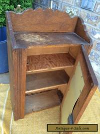 Antique Oak Medicine Cabinet With Mirror for Sale in ...