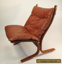 Westnofa mid century '60s leather lounge chair Norway ...