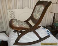 Antique Folding Rocking Chair   Antique Furniture