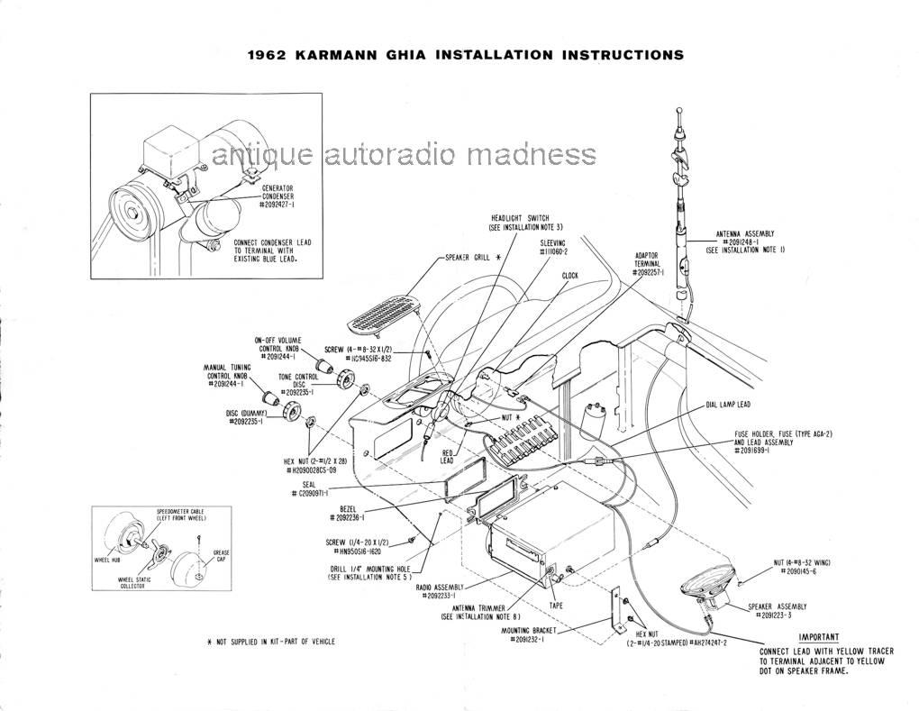 Vintage beetle autoradio Sapphire I Bendix 2BV