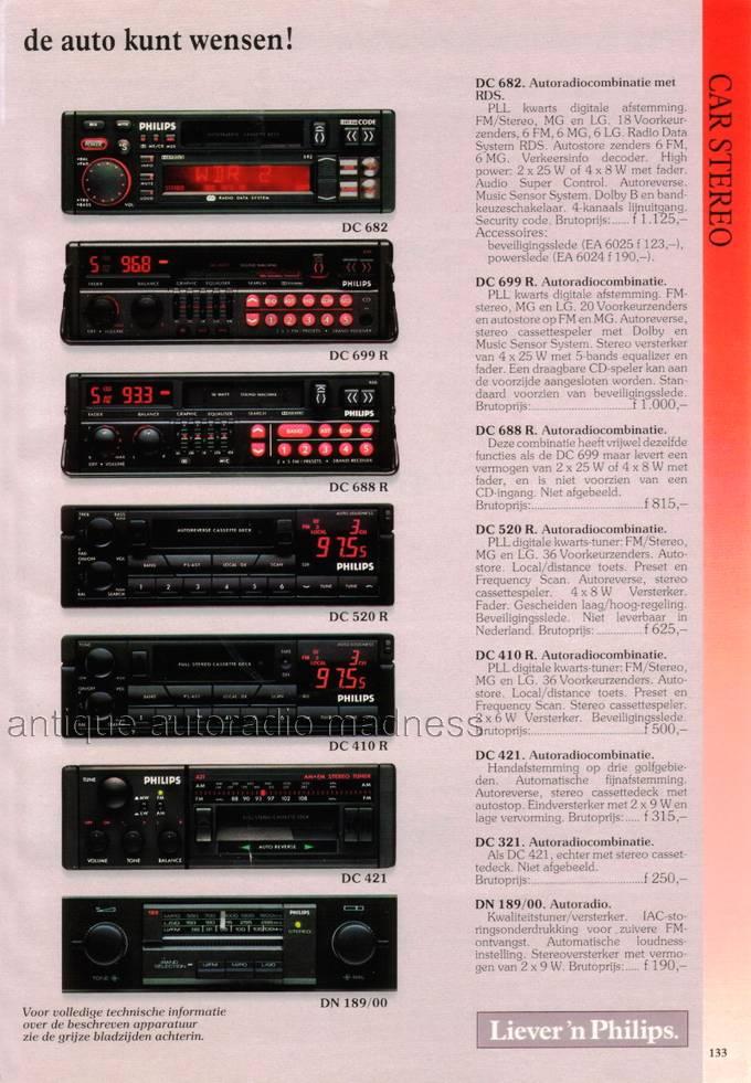 Autoradio PHILIPS old school 1991