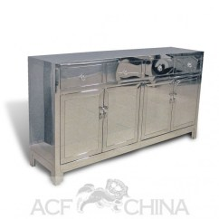 Bottom Kitchen Cabinets Prep Tables Contemporary Asian Stainless Steel Buffet In Chrome