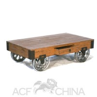 Industrial modern warehouse cart coffee table